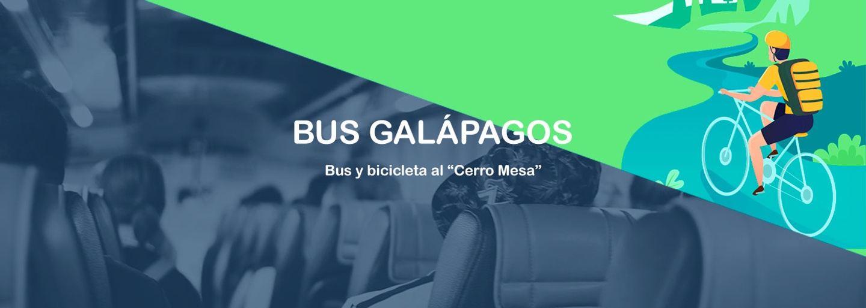 """Bus y bicicleta  """"Cerro Mesa"""""""