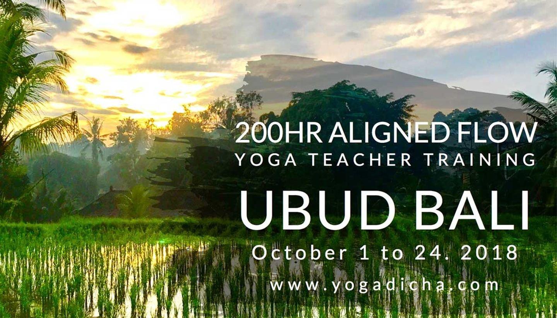 Aligned Vinyasa 200hr Teacher Training in Ubud, Bali