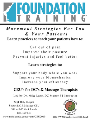 CEU's for Chiropractors and Massage therapists