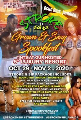 "Stroke n Sip presents ""Grown & Sexy Spook Fest"""