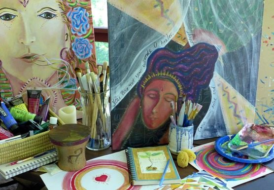 Woman Emerged: A Weekend Journey in Painting, Writing, & Ceremony copy