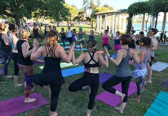 Sunset Silent Disco Yoga!