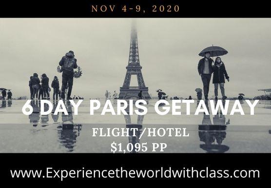 6 Day Paris Getaway