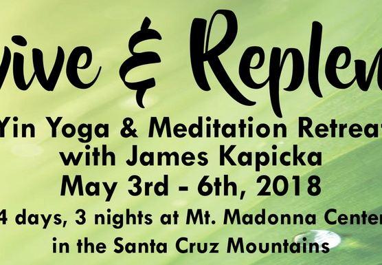 Revive & Replenish - Yin Yoga & Meditation Retreat Spring '18