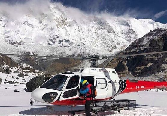 Annapurna Base Camp Helicopter trek return by Helicopter