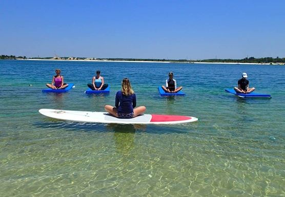 1-Day YOGA-WATER® Immersion: SUP-Yoga, YogaWaterMat®, Water Ceremony