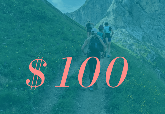 $100 USD Runcation Travel Gift Card