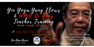 Yin Yoga, Yang Flows & Qi Gong 50 hr Certification PERTH July-Aug 2019 (26-28 July, 16-18 Aug)