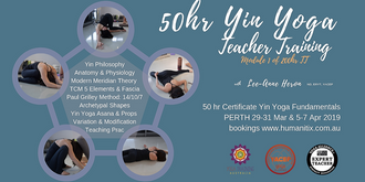 Yin Yoga 50 hr Certification PERTH Mar - Apr 2019(29-31 Mar, 5-7Apr)