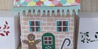 Cardboard Gingerbread Houses all ages workshop for Christmas only $10 per house