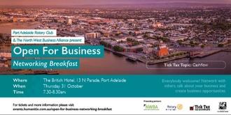 Open For Business Networking Breakfast