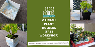 Origami Plant Holders - Parra Pickers December 2019