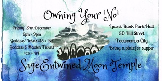 SageEntwined Moon Temple ~ December New Moon Circle ~ Owning Your 'No'