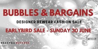 Bubbles & Bargains - Early Bird Sale