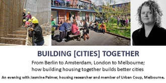 An evening with Jasmine Palmer, Collaborative Housing Researcher and Urban Coup Member