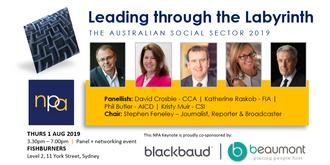 Leading through the Labyrinth: The Australian social sector 2019