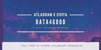 Atlassian x Civita: Data4Good Project Showcase Evening