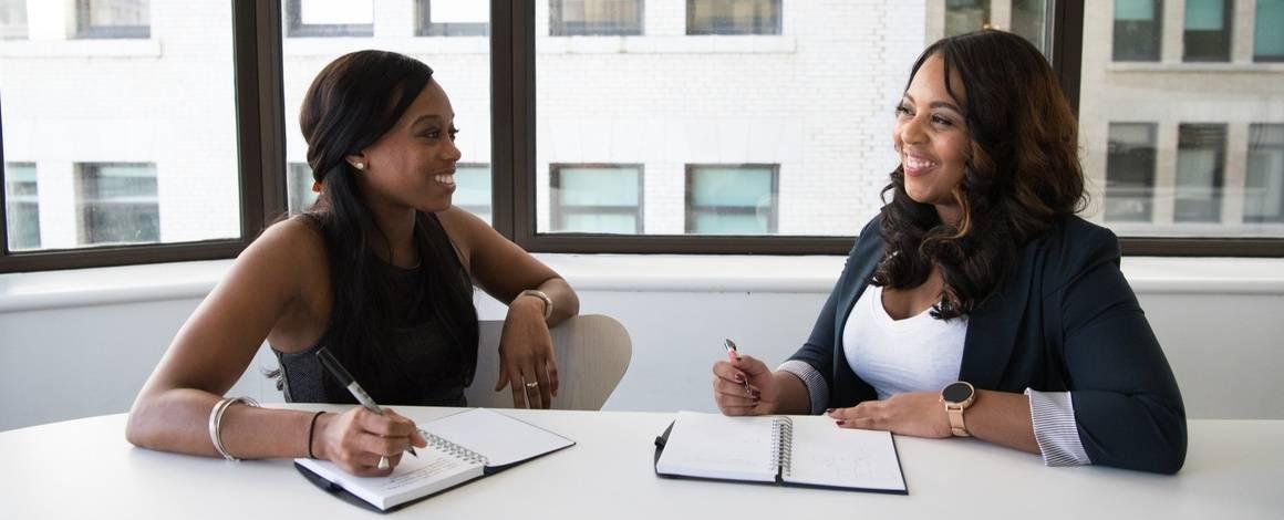 women at interview