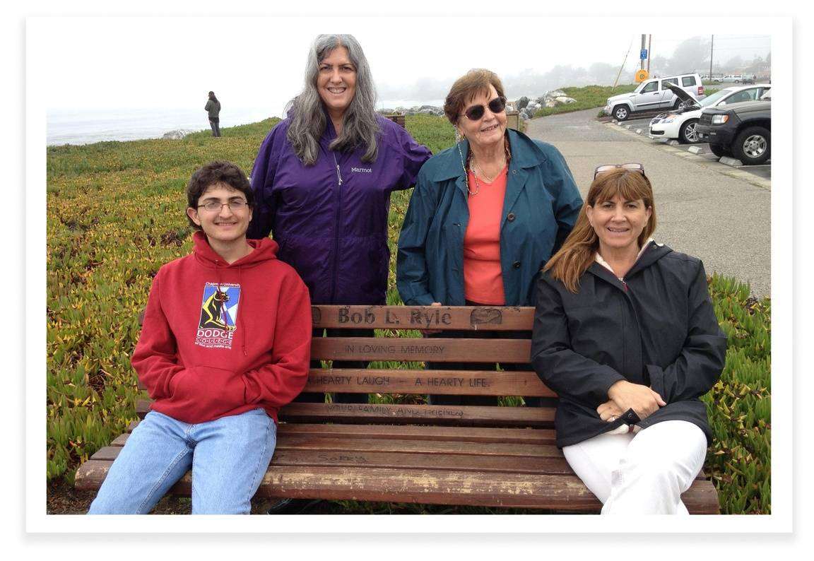Gitta, daughter Janine, grandson Bennett, and daughter-in-law Susan.