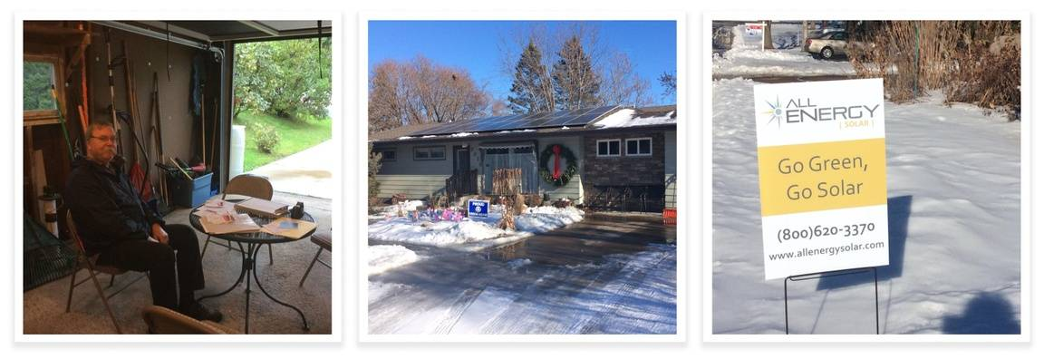 Renae Bowman and her husband hosting solar open houses at their home in Crystal, Minnesota