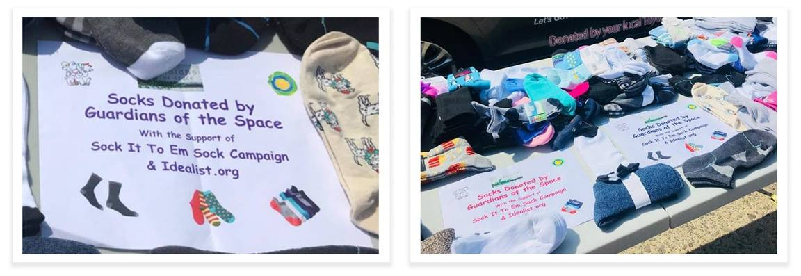 Idealist Day Sock Drive Donations for the NYC Homeless - Idealists Days Blog