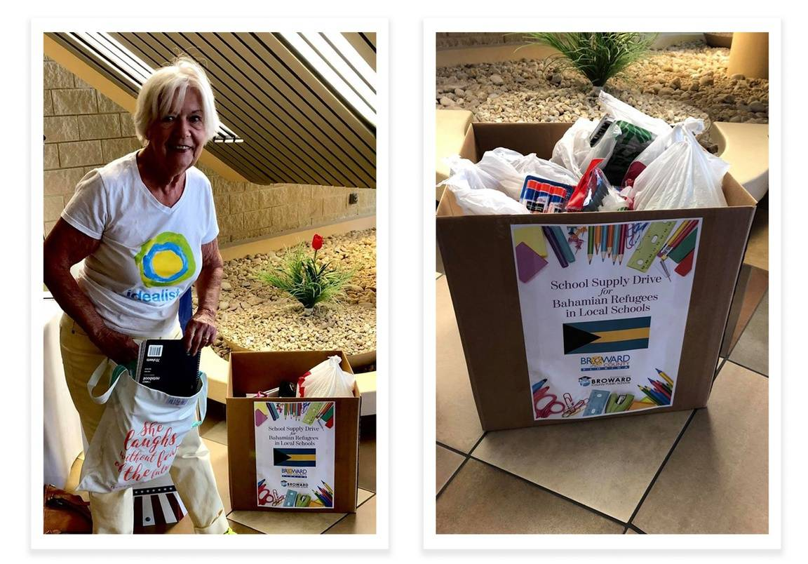 Nancy Molledo, an idealist in Florida, donates school supplies for Bahamian students displaced by Hurricane Dorian