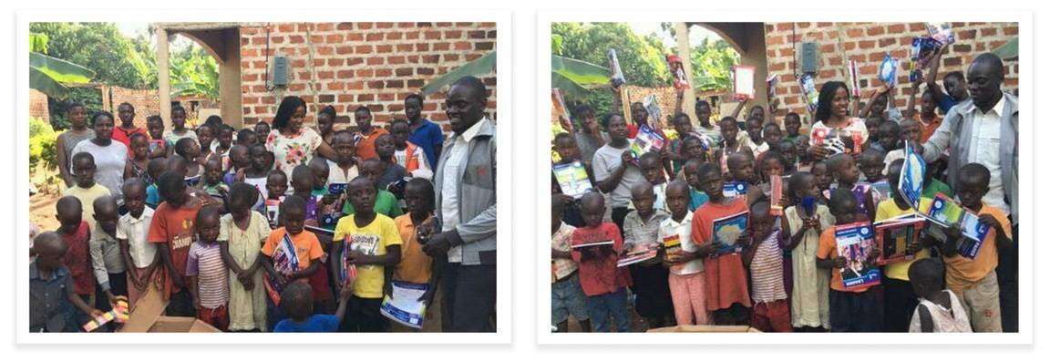 Donating School Supplies to an Orphanage in Uganda