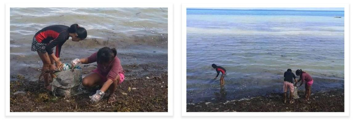 Isabel Nicolesson and friends hold a beach cleanup in the Philippines