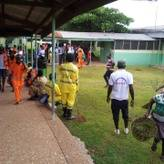 Clean up exercise at the Hohoe Hospital
