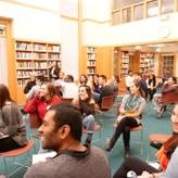 Participants of Dialogue Nights enjoy a skit on the power of value-creative dialogue