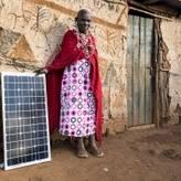 Solar panel rural Kenya
