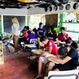 Class at Casa de los Ninos - Las Terrenas