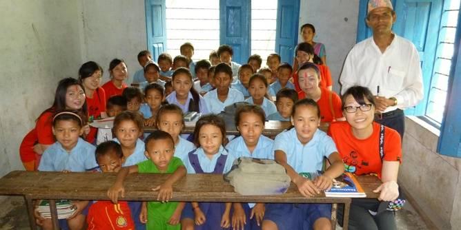 Teaching English in schools in Nepal