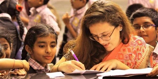 Teaching, raising environmental awareness & renovating schools in Jaipur