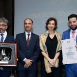 Cine Fértil, ganadora del Premio UNESCO Sharjah a la Cultura Árabe, París, 15 de mayo de 2018.