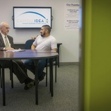 Executive Director interviews new student
