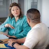 Career Navigator meets with student