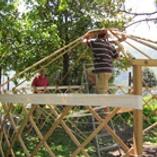 Yurt goes up