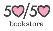 Logo of 50/50 Bookstore