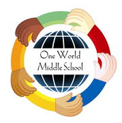 Logo of One World Middle School at Edenwald