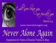 Logo of Never Alone Again Domestic Violence Organization