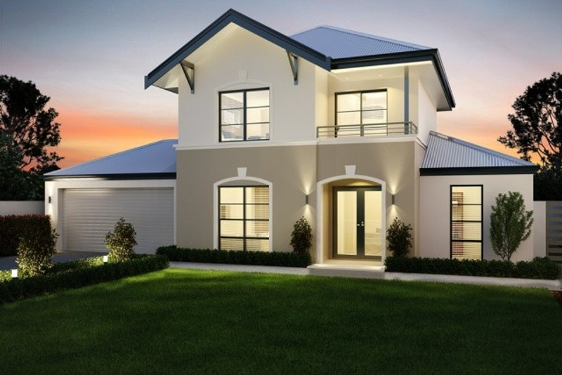 Double storey The Haskins Balcony House by New Level Homes