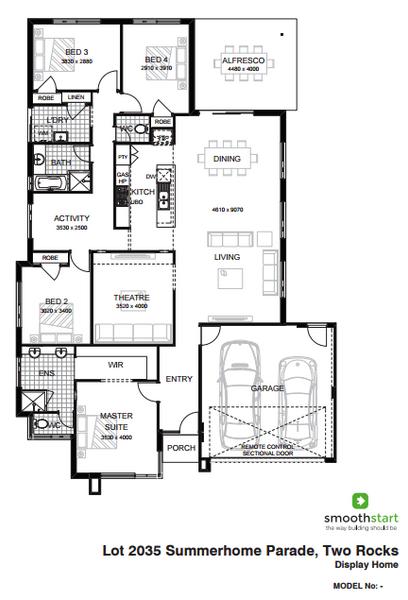Single storey The Enterprise House design