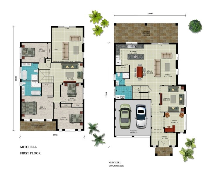 Double storey Mitchell House design