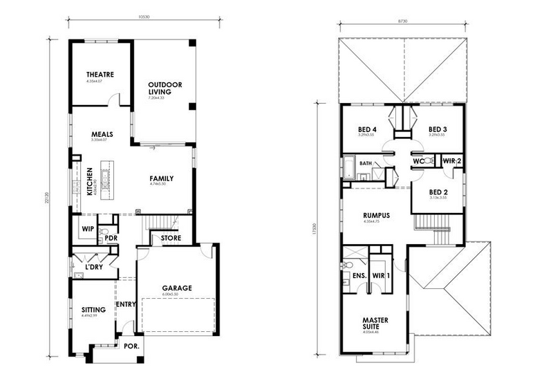 5 beds, 3 baths, 2 cars, 37.35 square floorplan