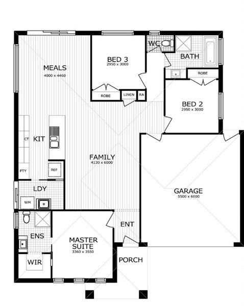 4 beds, 2 baths, 2 cars, 22.57 square floorplan