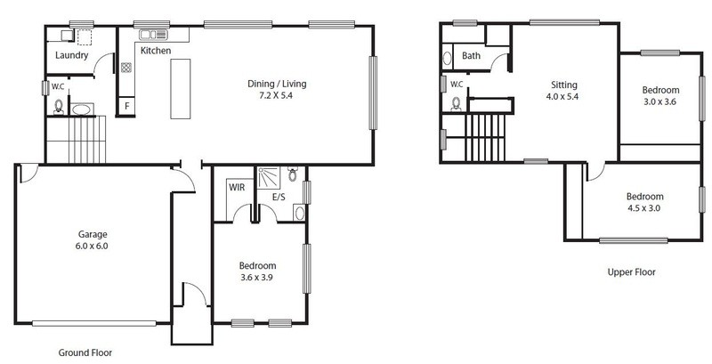 3 beds, 2.5 baths, 2 cars, 24.39 square floorplan