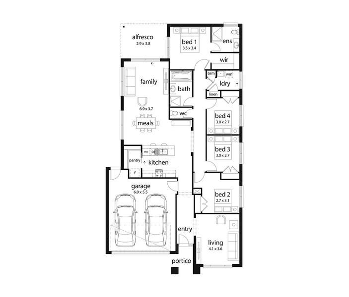 4 beds, 2 baths, 2 cars, 22.41 square main