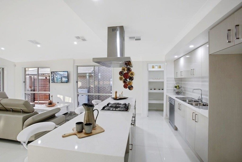 Kitchen photo of Gibson home design by Austec Homes