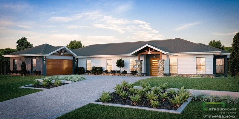 Single storey Montego 450 House by Stroud Homes Melbourne North